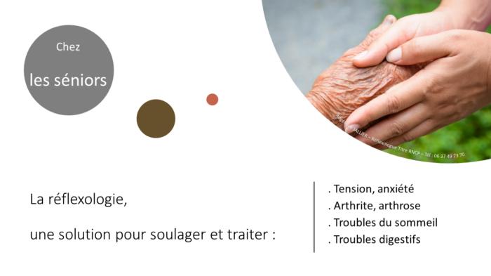 Réflexologie pour tous et à tout âge. La réflexologie et les séniors : une solution douce et efficace en cas de tension, anxiété, arthrite, arthrose, troubles du sommeil, troubles digestifs...